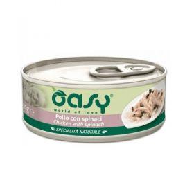 Oasy Cat Adult Specialità Naturali Gatto Pollo con Spinaci da 70 gr