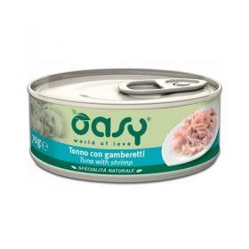Oasy Cat Adult Specialità Naturali Gatto Tonno con Gamberetti da 70 gr
