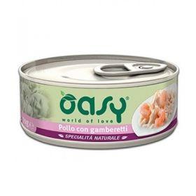 Oasy Cat Adult Specialità Naturali Pollo con Gamberetti Gatto da 70 gr