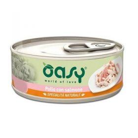 Oasy Cat Adult Specialità Naturali Pollo con Salmone Gatto da 70 gr