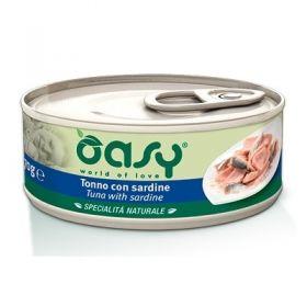 Oasy Cat Adult Specialità Naturali Tonno con Sardine Gatto da 70 gr