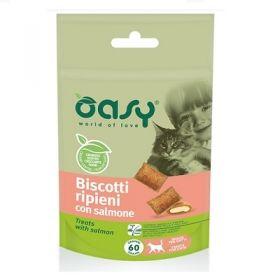 Oasy Cat Biscotti Ripieni con salmone - Snack per Gatti 60 Gr