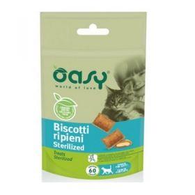 Oasy Cat Biscotti Ripieni Sterilized- Snack per Gatti 60 Gr
