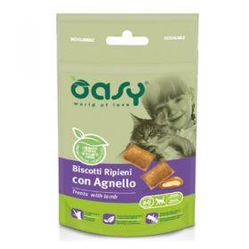 Oasy Gatto Biscotti ripieni con Agnello 60 gr -  Snack