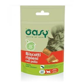 Oasy Gatto Biscotti ripieni con Pollo 60 gr -  Snack
