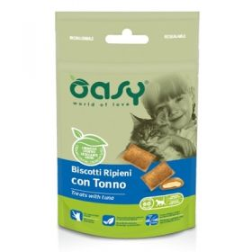 Oasy Gatto Biscotti ripieni con Tonno 60 gr -  Snack