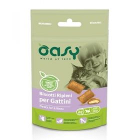 Oasy Gatto Biscotti ripieni per Gattini 60 gr -  Snack