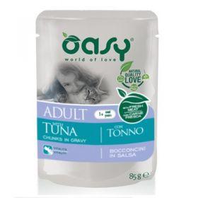 Oasy Gatto Bocconcini in Salsa Adult con Tonno 85 Gr,