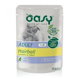 Oasy Gatto Bocconcini in Salsa Adult Hairball 85 Gr,
