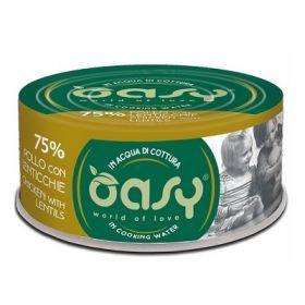 Oasy Wet Cat More and love Gatto con Pollo e Lenticchie 70 gr