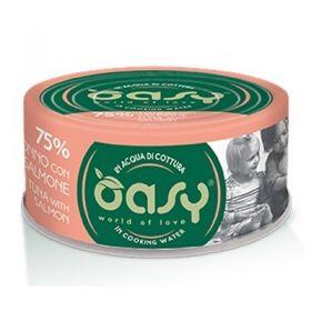 Oasy Wet Cat More and love Gatto con Tonno e Salmone 70 gr