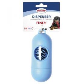 Record Dispenser con sacchetti igienici per Cani di ricambio Funky Blue