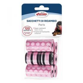 Record Ricariche Sacchetti Igienici Per Cani E Gatti Modello Origami 120 pezzi