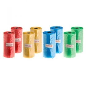 Record Sacchetti Igienici 6 Rotoli da 20 pezzi Blu, Rosa Verde