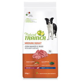 Trainer Natural Adult Cane Medium Manzo e Riso 3 Kg
