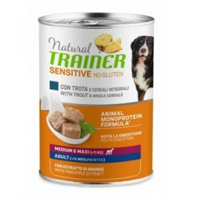 Trainer Natural Cane Adult sensitive no gluten cane medium e maxi Trota e cereali integrali 400 Gr.
