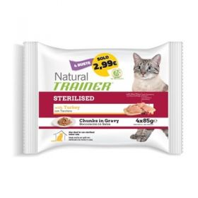 Trainer Natural Gatto Adult al Manzo Flowpack 4 buste da 85 Gr.