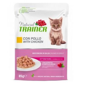 Trainer Natural Kitten e Young al pollo in busta da 85 Gr.