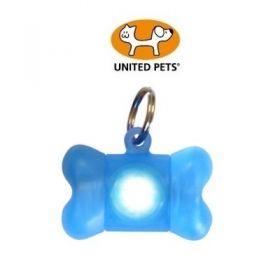 United Pets Bone Light Medaglietta Luminosa Azzurra per Cani