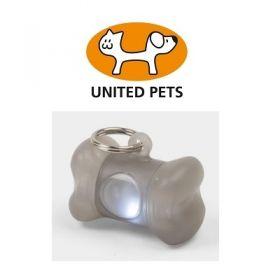 United Pets Bone Light Medaglietta Luminosa Grigia per Cani
