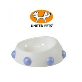 United Pets Ciotola Boss nano bianca con Borchie Azzurre