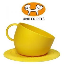 United Pets Cup Ciotola + Tappetino sottociotola Giallo