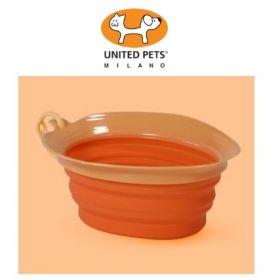 United Pets Leaf Bowl Ciotola da Viaggio Pieghevole in silicone Arancio