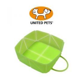 United Pets Petzpoint Ciotola da passeggio pieghevole in silicone Verde