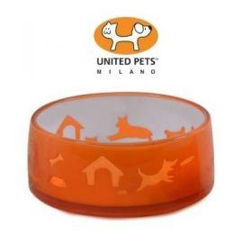 United Pets Petzpoint Ciotola in Acrilico Happy Dog meda 500 Ml Color Arancio