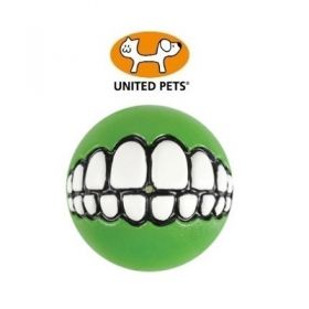 United Pets Rogz Grinz palla in Gomma Media Lime