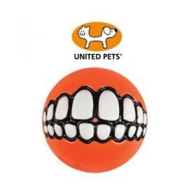United Pets Rogz Grinz palla in Gomma Piccola Arancio
