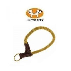 United Pets Rope Up Collare semistrozzo in Corda Naturale color Sabbia Taglia S