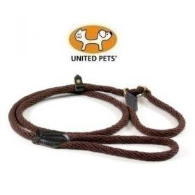 United Pets Rope Up Collare semistrozzo in Corda Naturale Marrone Taglia XL
